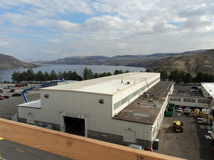 warehouse roof job in Livermore