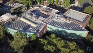 Walnut Creek City Hall Roof with solar panels