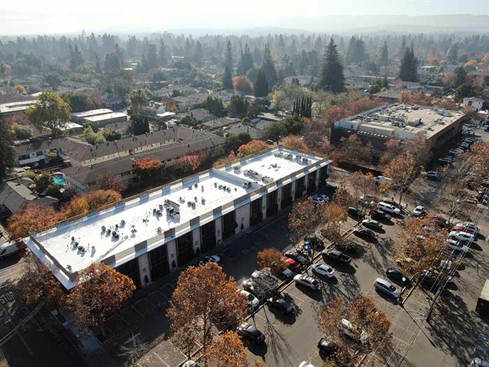 Commercial roof construction in Menlo Park CA