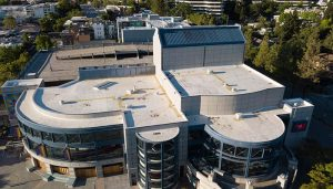 Silicone roof restoration on Lesher Center for Arts Walnut Creek